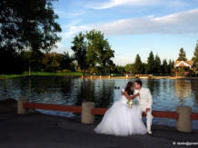 Cupertino Wedding Photography & Videography, casual photos at a park by De Anza College